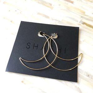 Shashi 18K Large Crescent Hoop Earrings